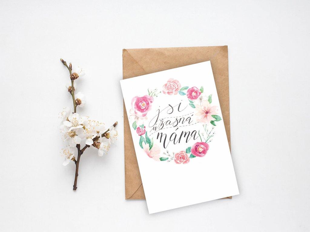 Přání Jsi úžasná máma
