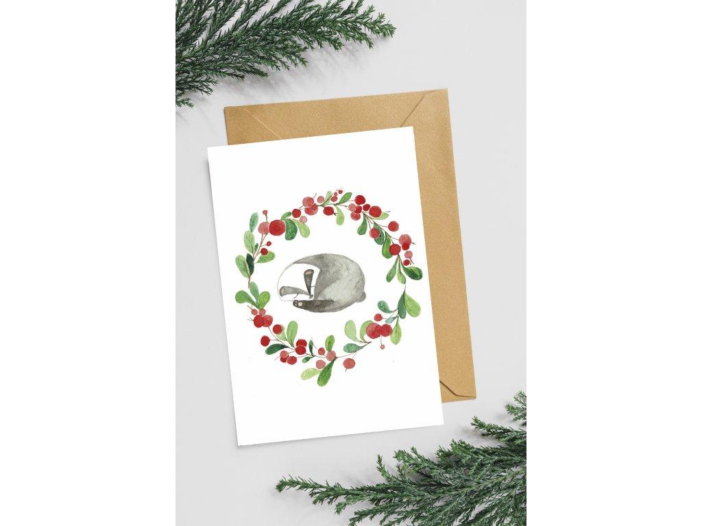 Přání Vánoční jezevec