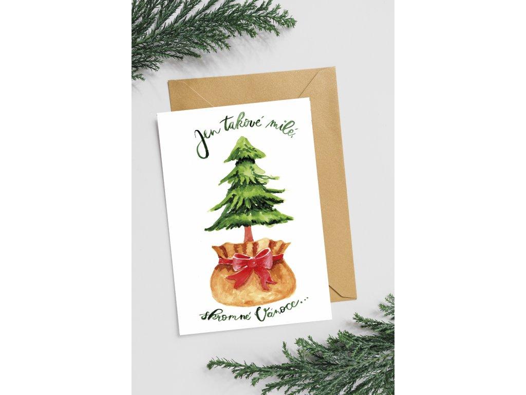 Přání Skromné Vánoce