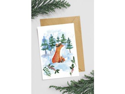Přání Vánoční liška