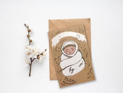 Karta k narození miminka