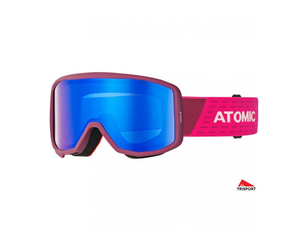 Atomic COUNT JR CYLINDRICAL 18/19 (Barva brýle lyžařské berry/pink)