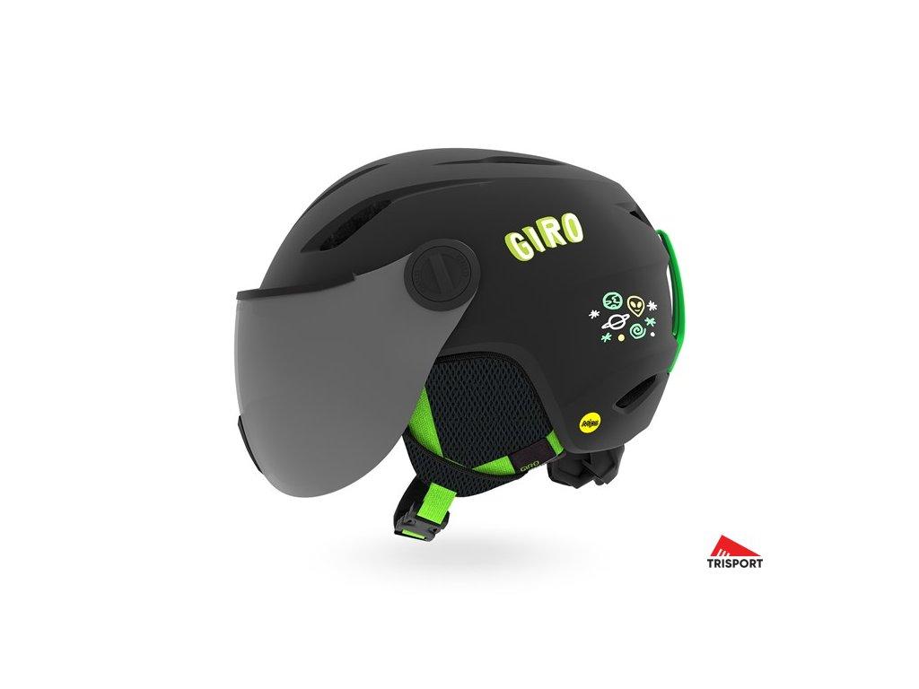 GIRO Buzz MIPS (Barva Mat Midnight/Neon Lights, helmy ross velikost S)