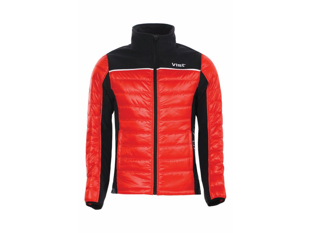 VIST Scuderia DOLOMITICA ins. softshell jacket red black front 1920px