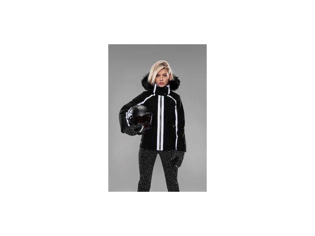 VIST Snow Leopard Antea ski jacket with fur + Fulcrum helmet +Flake mittens