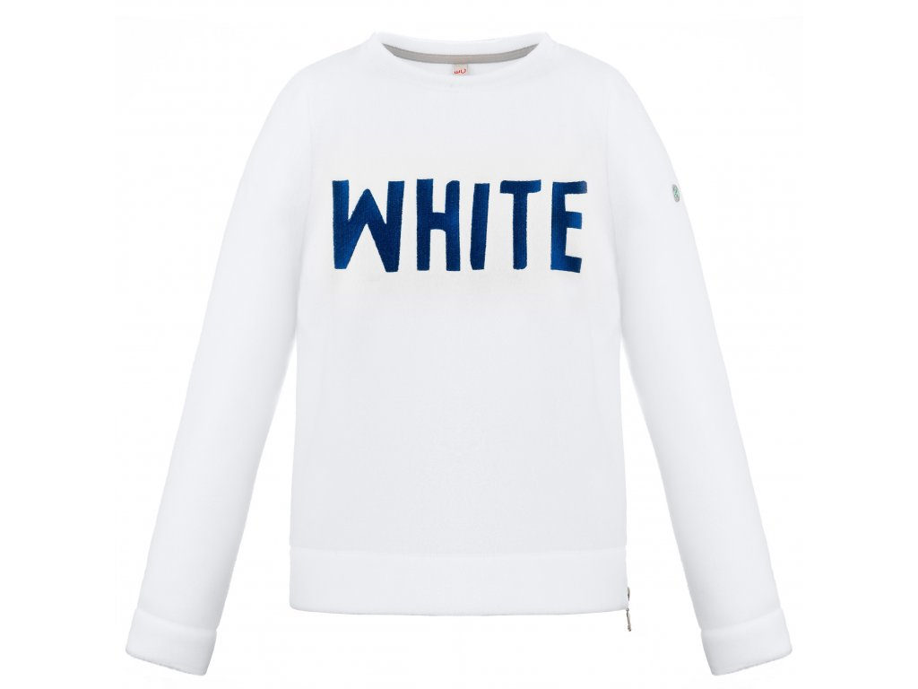 POIVRE BLANC W18-1503-JRGL FLEECE SWEATER WHITE (Velikost 16 let / 166 cm)