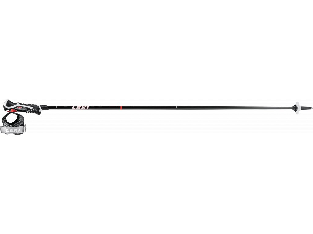 LEKI CARBON 14 3D BLACK-FLUORESCENT RED-WHITE