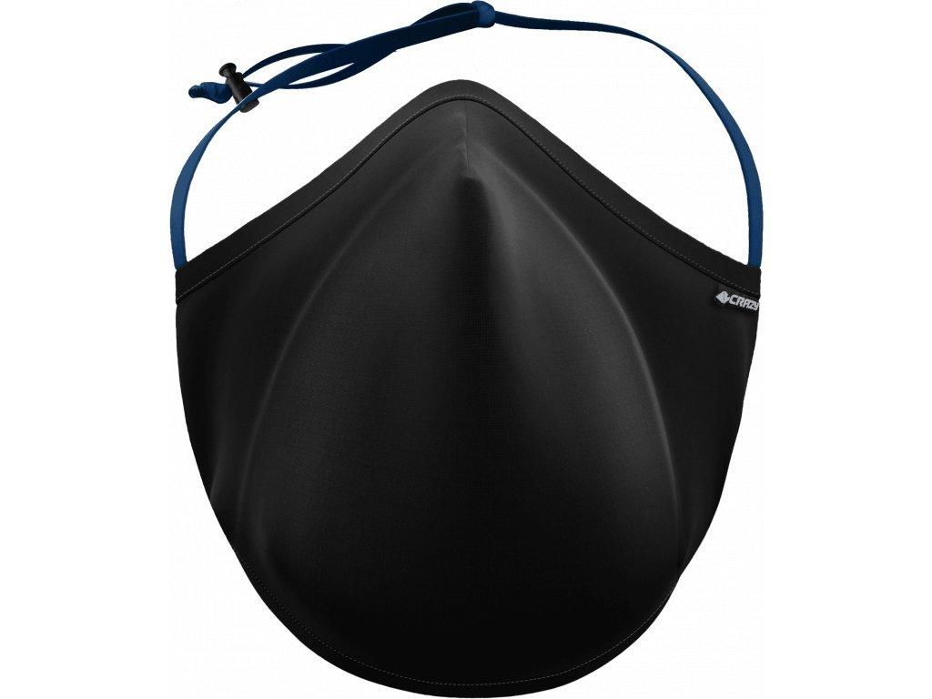 maska crazy černá