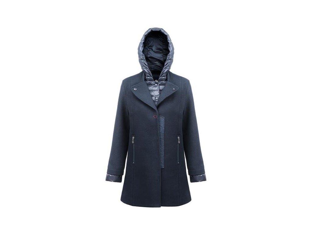 POIVRE BLANC W17-3002-WO PEA COAT GOTHIC BLUE