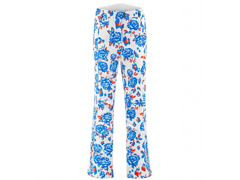 POIVRE BLANC W19-0820-WO/A STRETCH SKI PANTS BLUE FLOWER (Velikost XS)