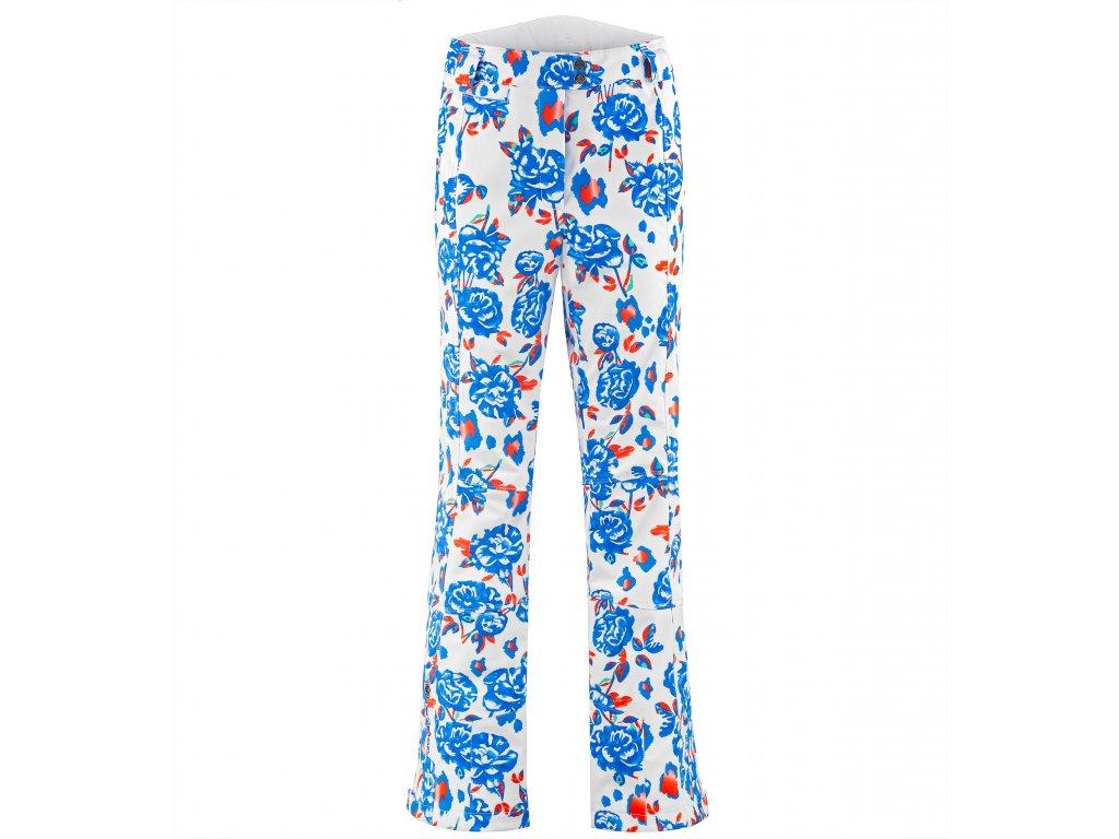 POIVRE BLANC W19-0820-WO/A STRETCH SKI PANTS BLUE FLOWER (Velikost XS)