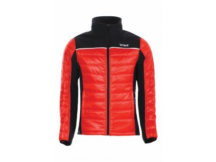 VIST Scuderia DOLOMITICA ins. softshell jacket red black front 1920px