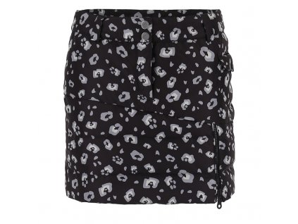 99110002 S4S4S4 HERA leopard down skirt leo black front
