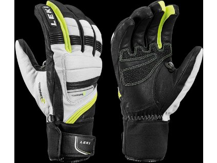 LEKI GRIFFIN PRIME S WHITE-BLACK-YELLOW
