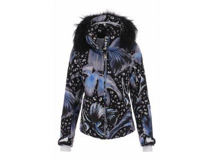 VIST Snowleopard AMELIA ins. ski jacket leo flower fur front 1920px
