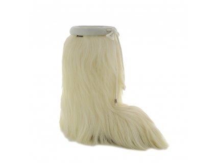 00 Damen Herren Fellstiefel echtes Fell Ziege Winterschuhe Winterstiefel 8490 Lhasa weiß 8490 Lhasa weiß