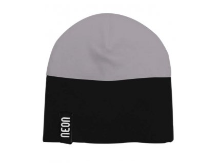 Bicolour beanie antracite nero2