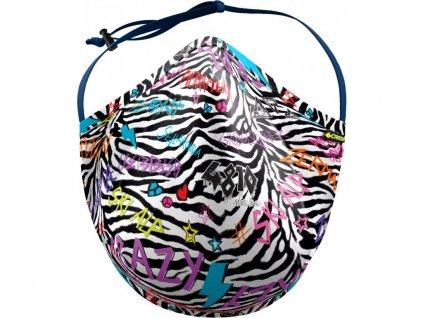 maska crazy bk zebra