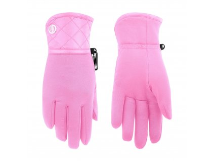 POIVRE BLANC W19-1775-JRGL/A STRETCH FLEECE GLOVES FEVER PINK