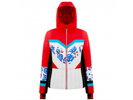 POIVRE BLANC W19-1004-WO SKI JACKET SCARLET RED/FLOWER MULTICO