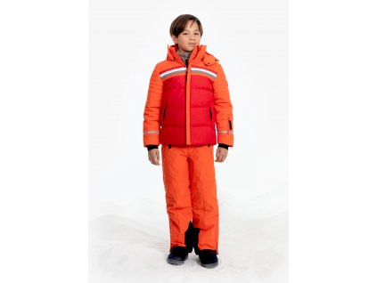 POIVRE BLANC W19-0903-JRBY SKI JACKET SCARLET RED/CLEMENTINE ORANGE