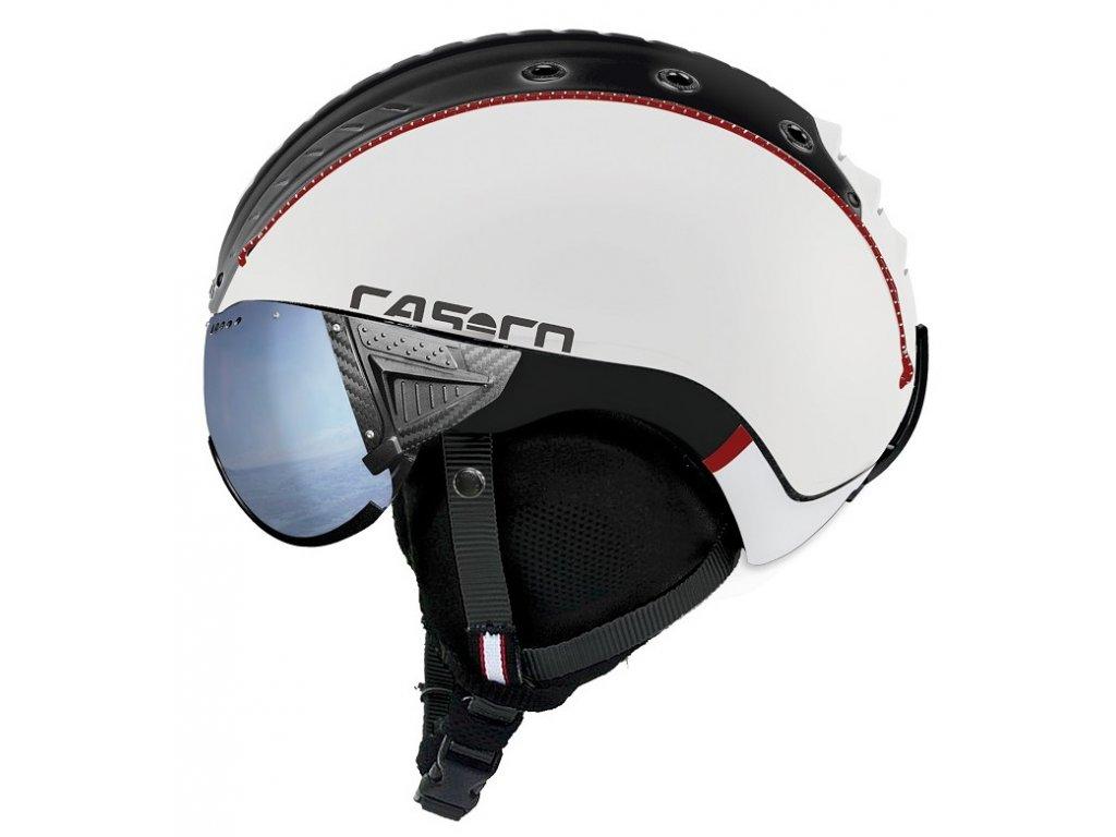 Casco SP 2 Visier Polarized comp white black rot matt