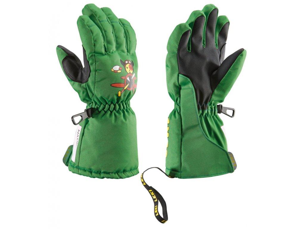 Leki Little Pilot green - dětské rukavice