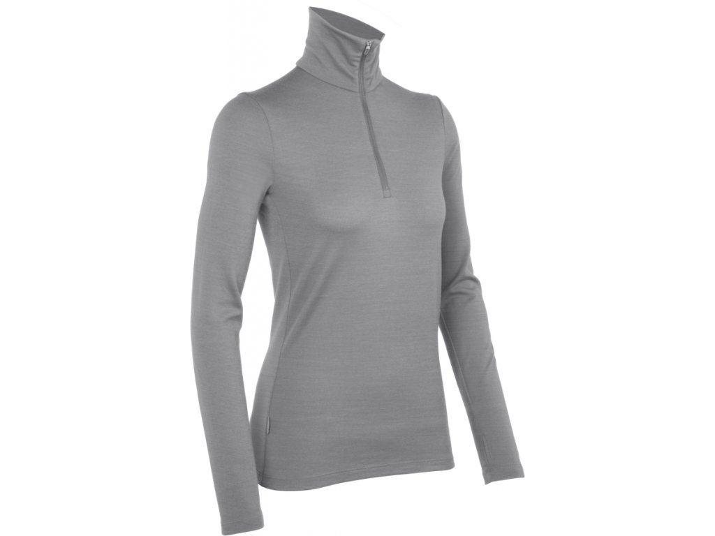 Icebreaker Women 260 Tech Top LS Half Zip - Metro
