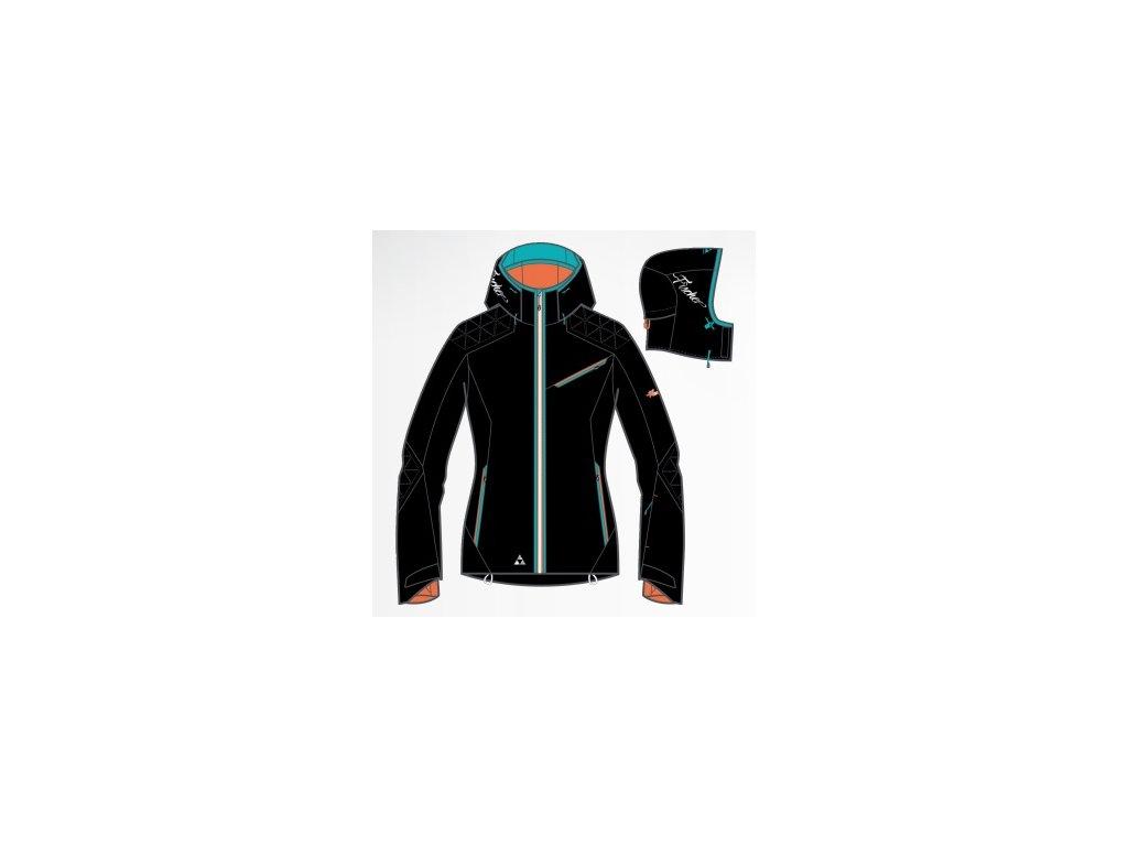 Fischer Chamrousse black - dámská lyžařská bunda