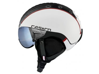 Casco SP 2 Visier Polarized comp white black rot matt