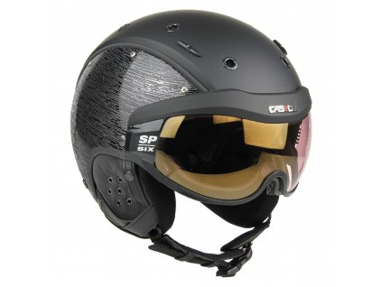 CASCO SP 6 Brush Visier Black Shiny persp rgb 07.2581