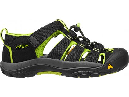KEEN Newport H2 K/Jr - black/lime green
