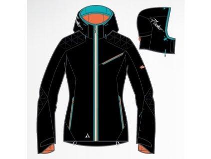 Fischer Chamrousse black - dámská lyžařská bunda 2013/14