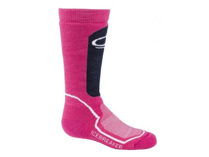 Icebreaker Kids Snow Medium - Pop Pink