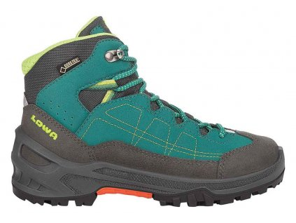 Lowa Approach GTX Mid Junior - petrol/lime