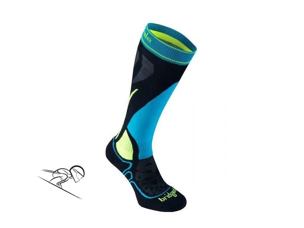 BD ski junior racer black fluoro yellow skiexpert II