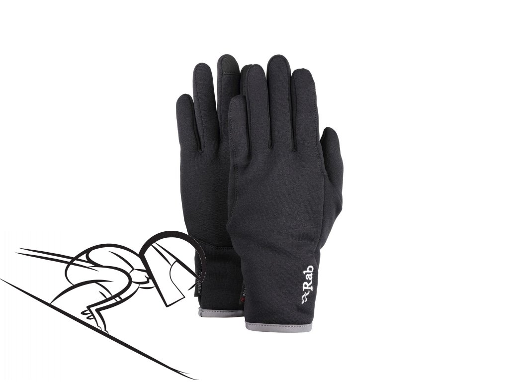 rab pwr stretch pro contact glove QAG 75 BL se