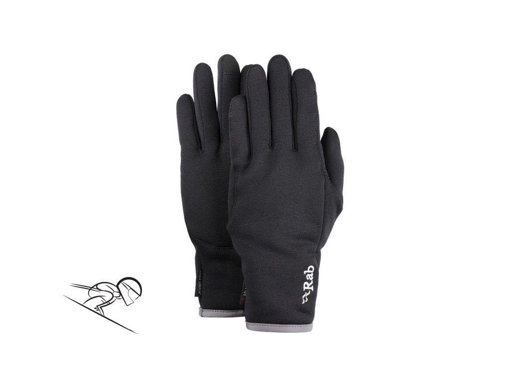 rab pwr stretch pro contact glove QAG 75 BL se