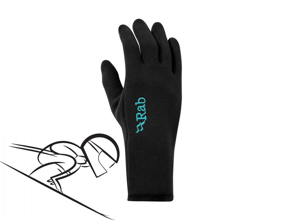 rab women pwr stretch contact glove qah 56 bl se