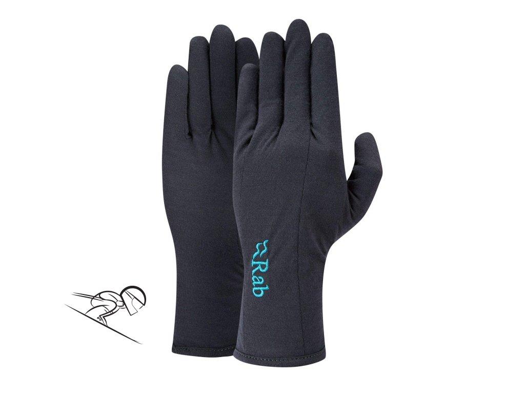 RAB merino160 glove woman qag 32 eb se