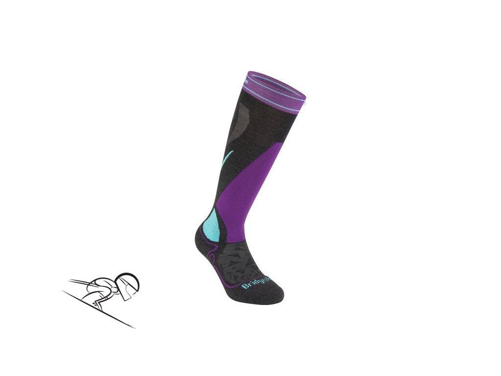 BD Midweight W graphite purple skiexpert