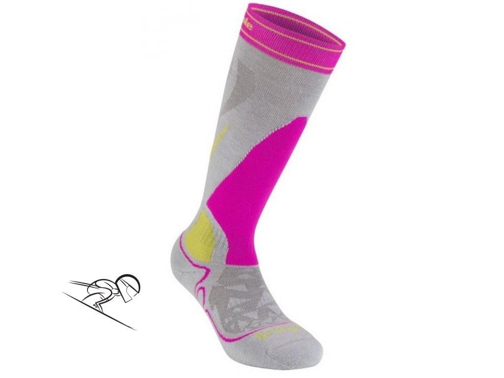 BD Midweight W grey pink skiexpert