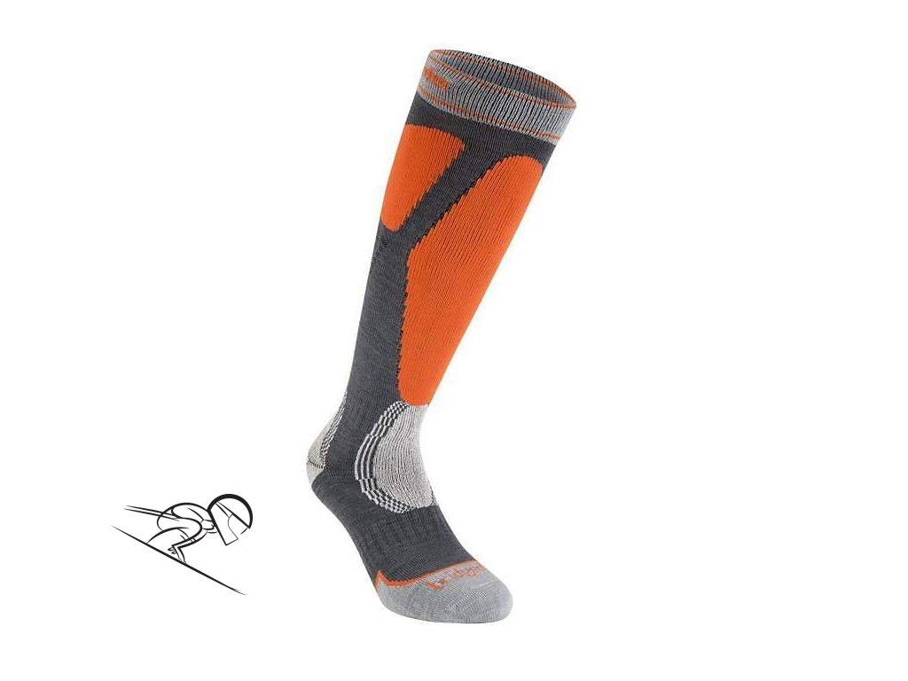 BD Easy on gunmetal orange ski expert
