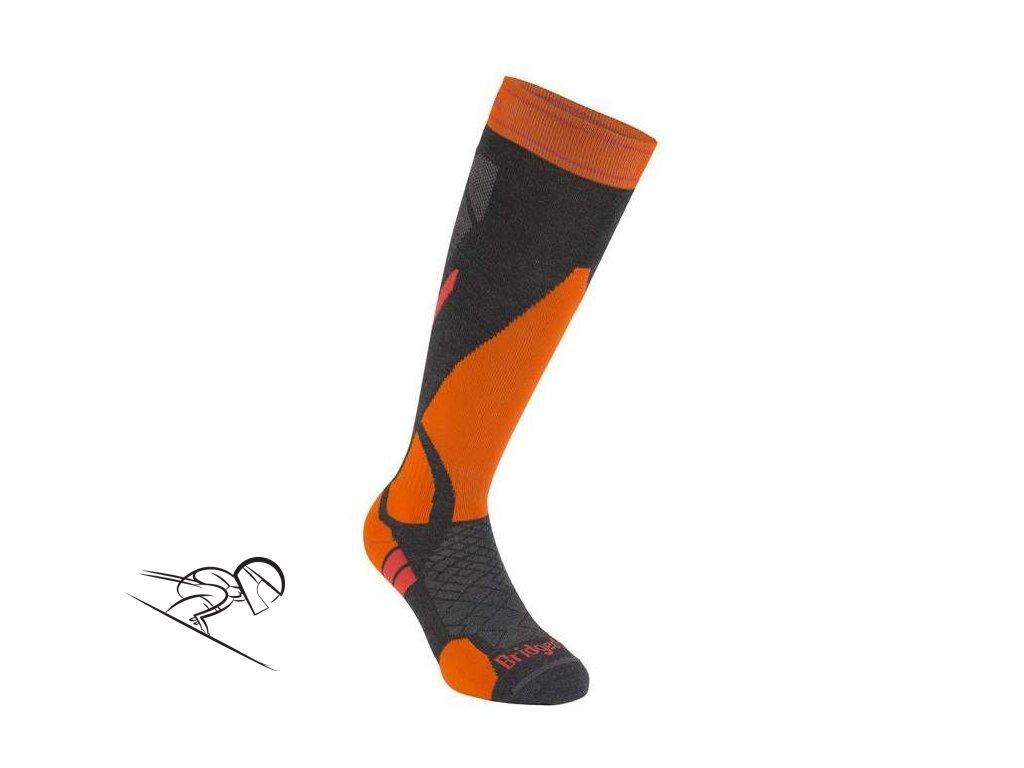BRIDGEDALE Lightweight UNI, graphite/orange