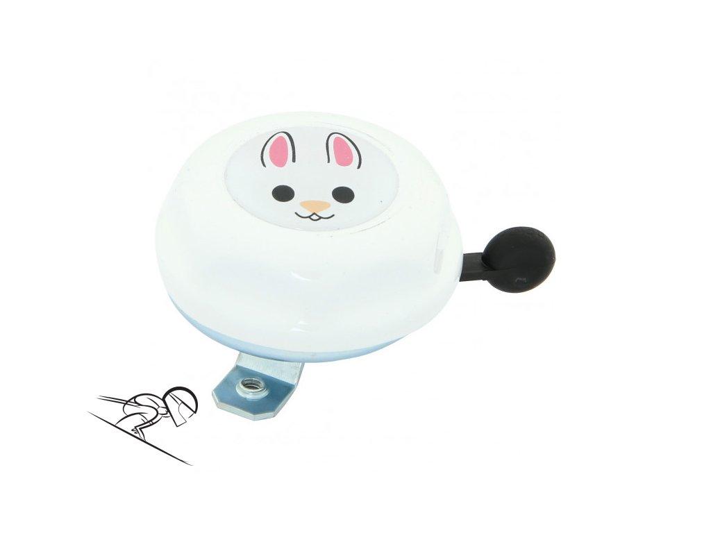 junior rabbit bily zvonek