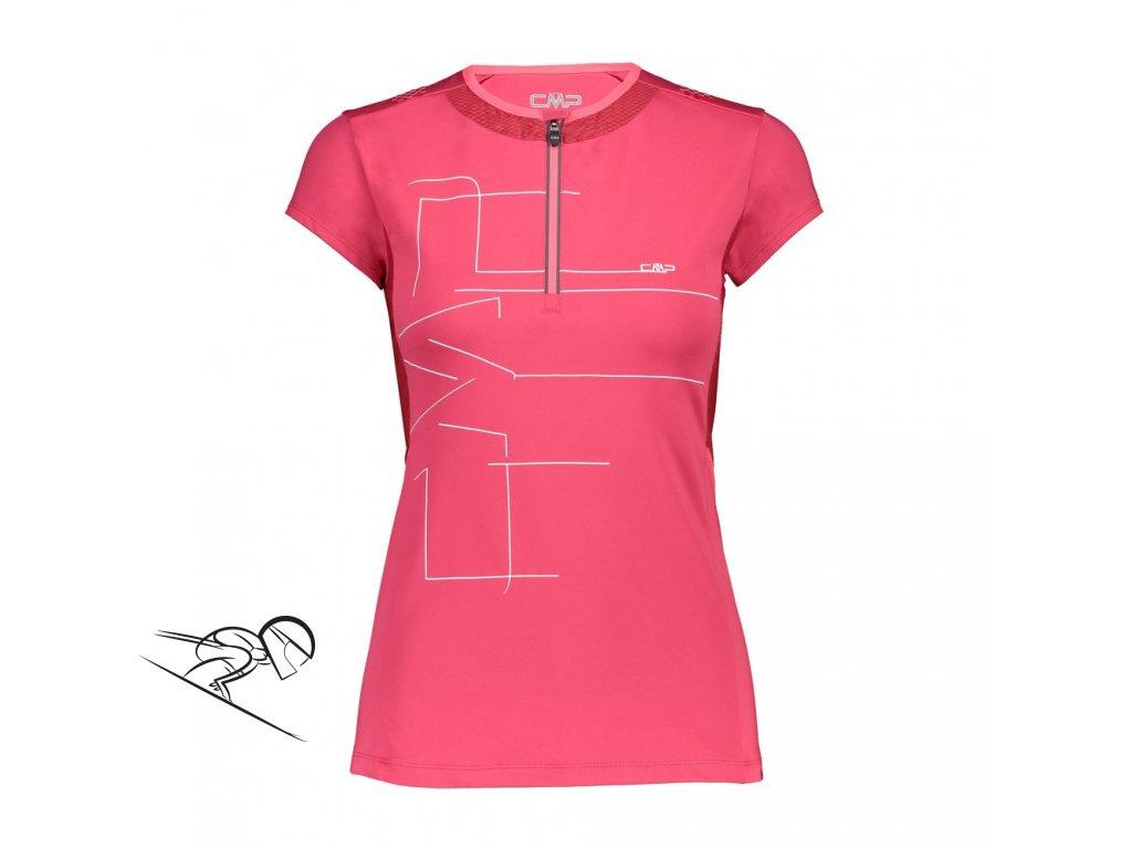 31C7836p wmn dres half zip pink