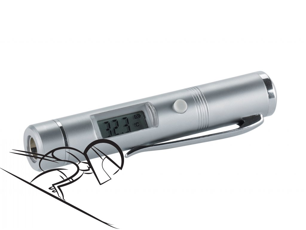 6236 holmenkol snow thermometer flash pen
