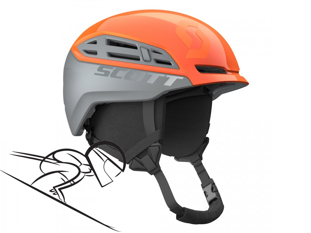 Scott couloir 2 orange grey 2545851011 skiexpert