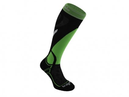 BRIDGEDALE Midweight UNI, black/green