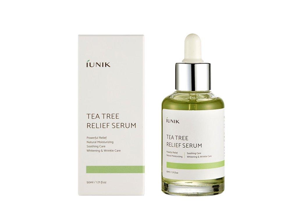 iUNIK Tea Tree Relief serum 50ml  Zklidňující sérum pro problematickou pleť